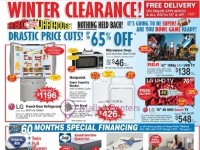 ABC Warehouse (Winter Clearance) Flyer