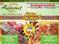 Adams hometown market (Cinco De Mayo) Flyer