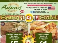 Adams hometown market (Weekly Specials) Flyer