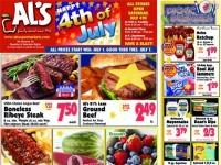 Al's Supermarket (Happy 4th of July) Flyer