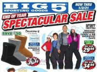 Big 5 Sporting Goods (End of Year Spectacular Sale) Flyer