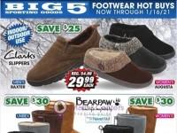 Big 5 Sporting Goods (Footwear Hot Buys) Flyer