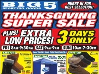 Big 5 Sporting Goods (Thanksgiving Super Sale) Flyer