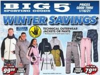Big 5 Sporting Goods (Winter Savings) Flyer