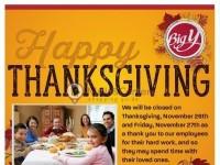 Big Y (Happy Thanksgiving) Flyer