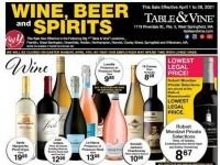 Big Y (Table and wine - sales) Flyer