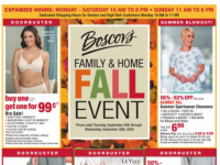 Boscov's (Family and home fall event) Flyer