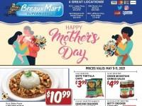Breaux Mart (Happy Mother's Day) Flyer