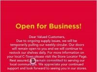 C-Town Supermarkets (notice) Flyer