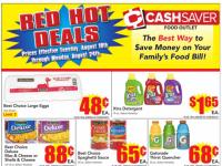 Cash Saver Food Outlet (Red Hot Deals) Flyer