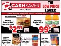 Cash Saver Food Outlet (The low Price Leader) Flyer