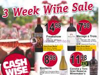 Cash Wise (3 week wine sale - ND) Flyer
