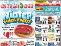 City Grocer (Winter Sales Event) Flyer