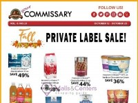 Commissary (Private label sale) Flyer