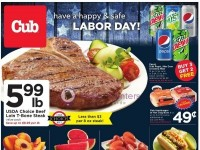 Cub Foods (Have A Happy And Safe Labor Day) Flyer
