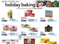 Cub Foods (Save More On Holiday Baking) Flyer