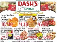 Dash's Market (A Family Of Finer Foods) Flyer
