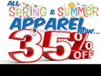 Discount Outlet (35% ON SPRING & SUMMER CLOTHING) Flyer