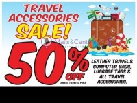 Discount Outlet (50% OFF TRAVEL ACCESSORIES) Flyer