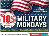 Discount Outlet (MILITARY MONDAYS Sale) Flyer