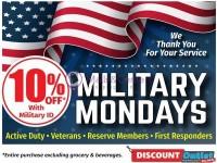 Discount Outlet (MILITARY MONDAYS Sale) Flyer