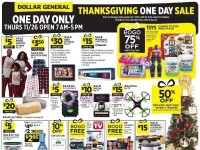 Dollar General (Thanksgiving One Day Sale) Flyer