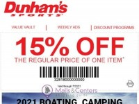 Dunham's Sports (Boating, Camping And Water Sporting Guide) Flyer