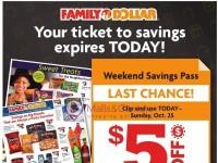 Family Dollar (Weekend Savings Pass) Flyer