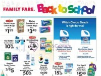 Family Fare (Back To School) Flyer