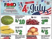 Food Bazaar (Happy 4th of july) Flyer