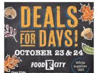 Food City (deals for days) Flyer
