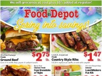 Food Depot (Spring Into Savings) Flyer