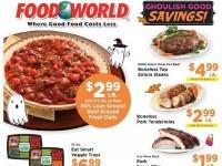 Food World (Ghoulish good savings) Flyer
