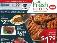 Fresh Foods IGA (Two big week of savings) Flyer