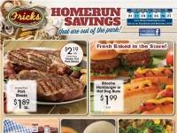 Frick's Market (Homerun Savings) Flyer