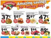 Hannaford Supermarket & Pharmacy (Amazing Savings For Turkey Day) Flyer