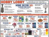 Hobby Lobby (Home Decor 50% Off) Flyer
