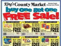 King's County Market (Buy One Get One Free Sale) Flyer