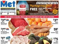 Met Foodmarkets (Thanksgiving Offer) Flyer