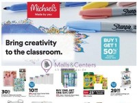 Michaels (Bring Creativity To The Classroom) Flyer