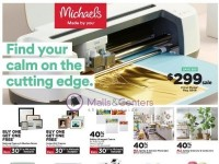 Michaels (Find Your Calm On The Cutting Edge) Flyer