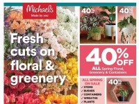 Michaels (Fresh Cuts On Floral And Greenery) Flyer