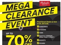 Michaels (Mega Clearance Event) Flyer