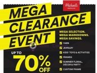 Michaels (Mega Clearance Event) Flyer