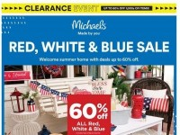 Michaels (Reds White And Blue Sale) Flyer