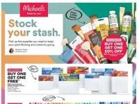 Michaels (Stock Your Stash) Flyer