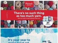Michaels (There's No Such Thing As Too Much Yarn) Flyer