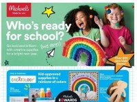 Michaels (Who's Ready For School?) Flyer