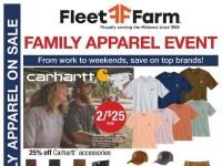 Mills Fleet Farm (Family Apparel Event)  Flyer