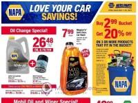 Napa Auto Parts (love your car savings) Flyer